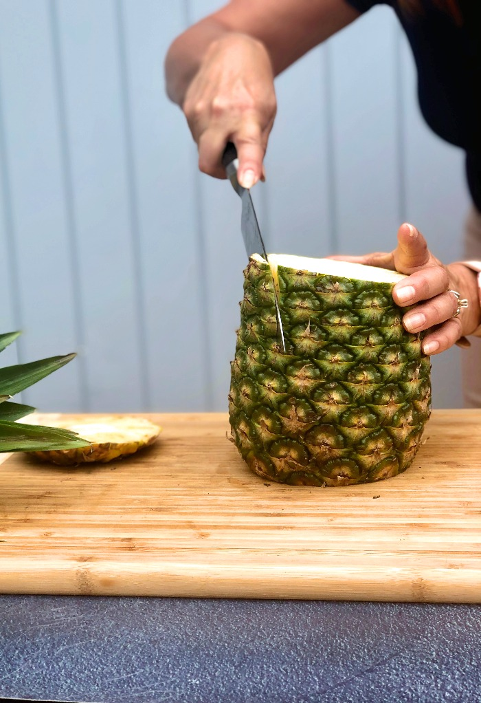 Pineapple with bottom cut