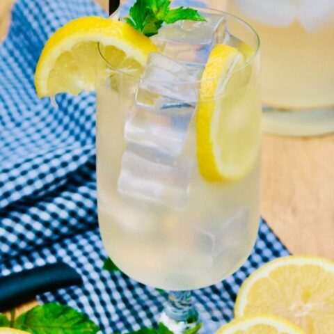 Lemonade spiked with vodka for a cocktail
