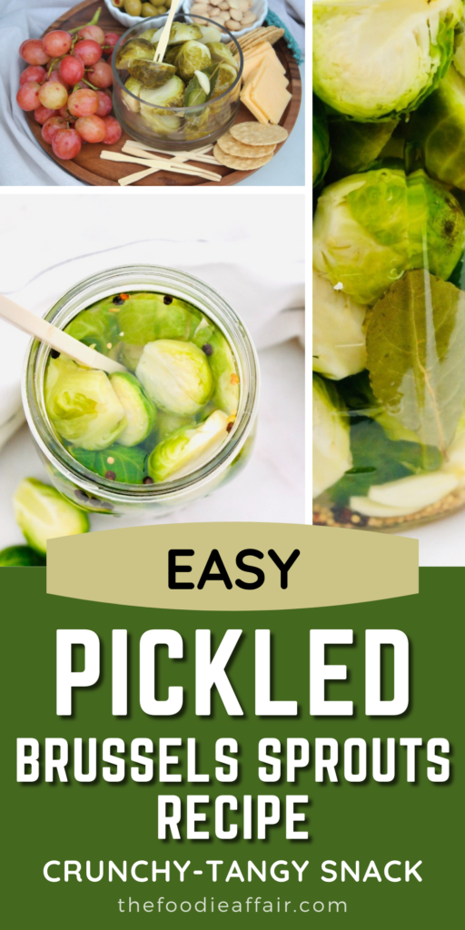 Easy pickled brussels sprouts recipe with simple spices found in most kitchens. This can be enjoyed in just a day. Enjoy right out of the jar or use in recipes.