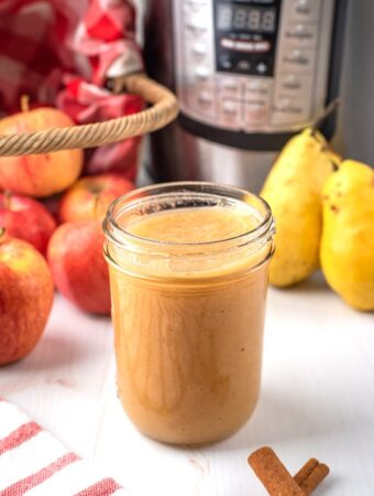 Homemade applesauce in an Instant Pot.
