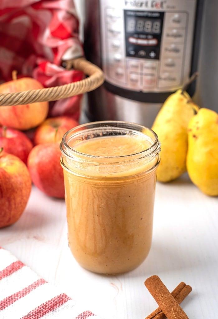 Homemade applesauce in an Instant Pot.
