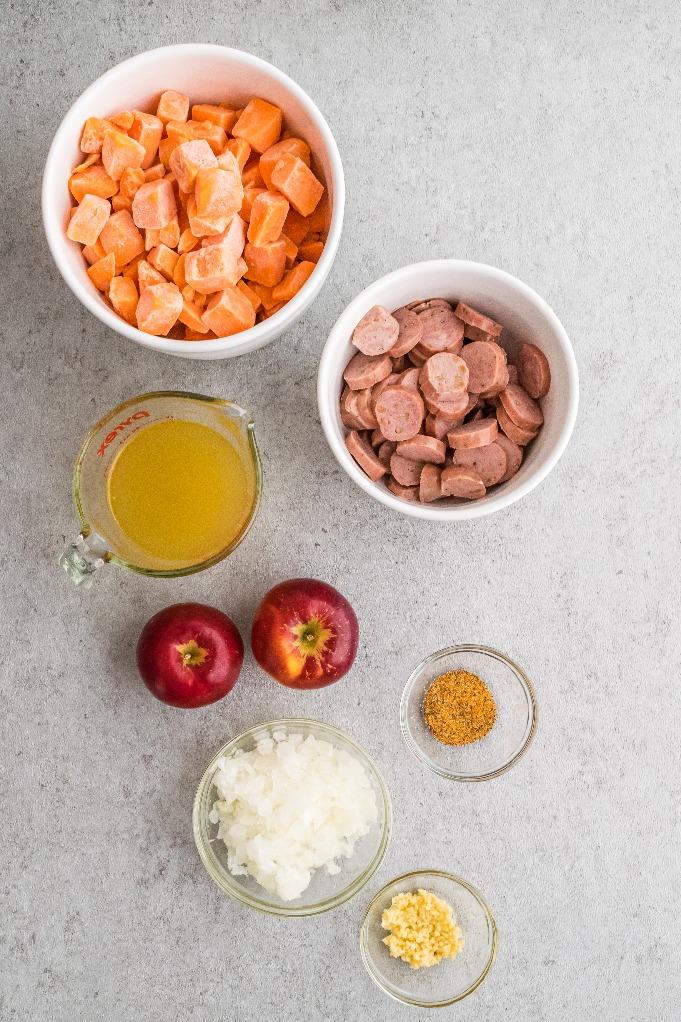 Ingredients to make sweet potato breakfast bowl.