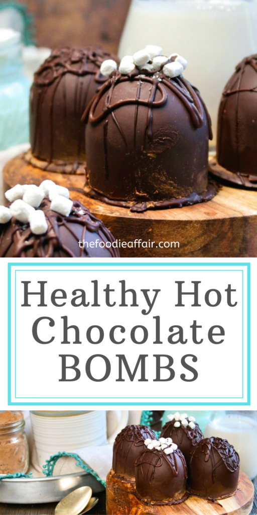 Sugar free hot chocolate bombs made from the silicone mold from an Instant Pot. These cocoa bombs are fun to make and explode into a delicious decadent rich cup of hot chocolate. #cocoabomb #diy #sugarfree #ketorecipe