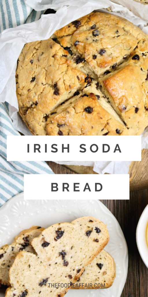 Easy Irish soda bread recipe. This quick bread doesn't require any yeast. Simple and delicious! #glutenfree #quickbread