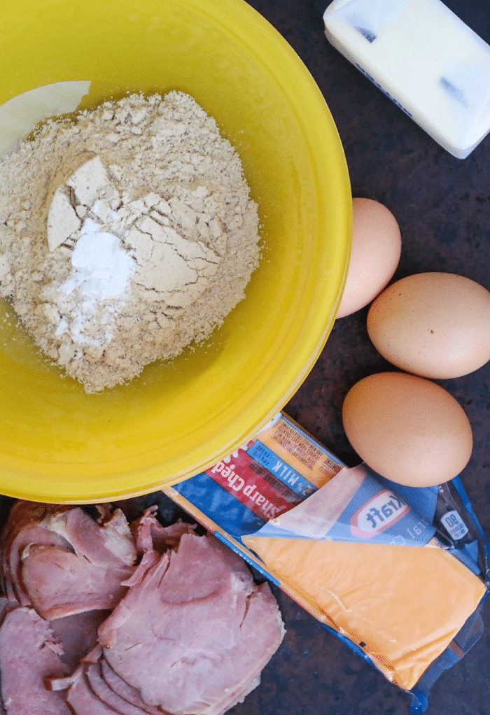 Ingredients for low carb muffins.