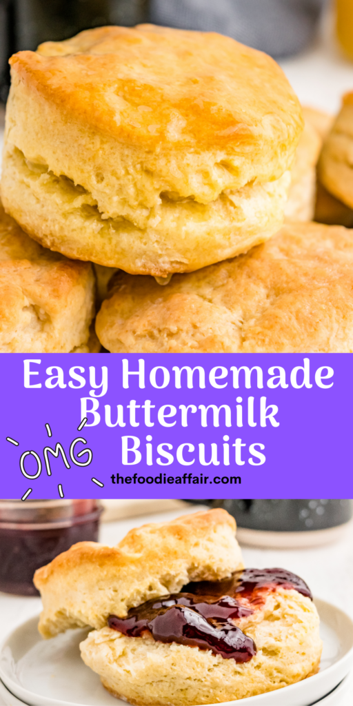 Homemade buttermilk biscuits require no special baking methods. These delicious fluffy biscuits are ready in no time! #biscuits #EasyRecipe #BrunchIdea