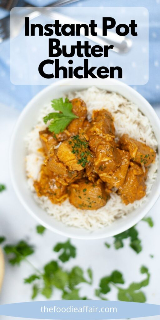 Quick and easy butter chicken in an Instant Pot. Serve with cauliflower rice for a low carb keto meal. #keto #InstantPot #ChickenDinner #EasyRecipe