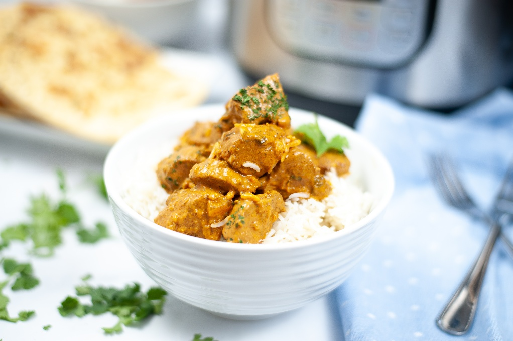 Keto butter chicken made in an instant pot.