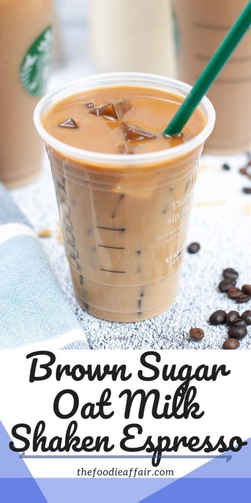 Cook down with an iced brown sugar oat milk shaken espresso latte. #Starbucks #Copycat #Recipe #coffee