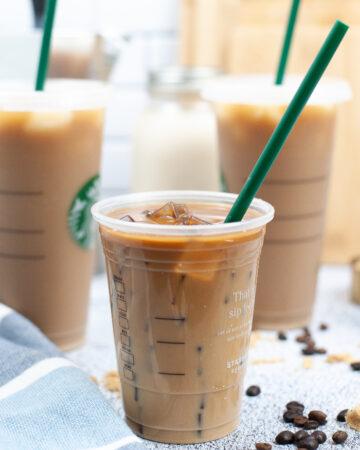 Starbucks copycat brown sugar espresso shaken latte.