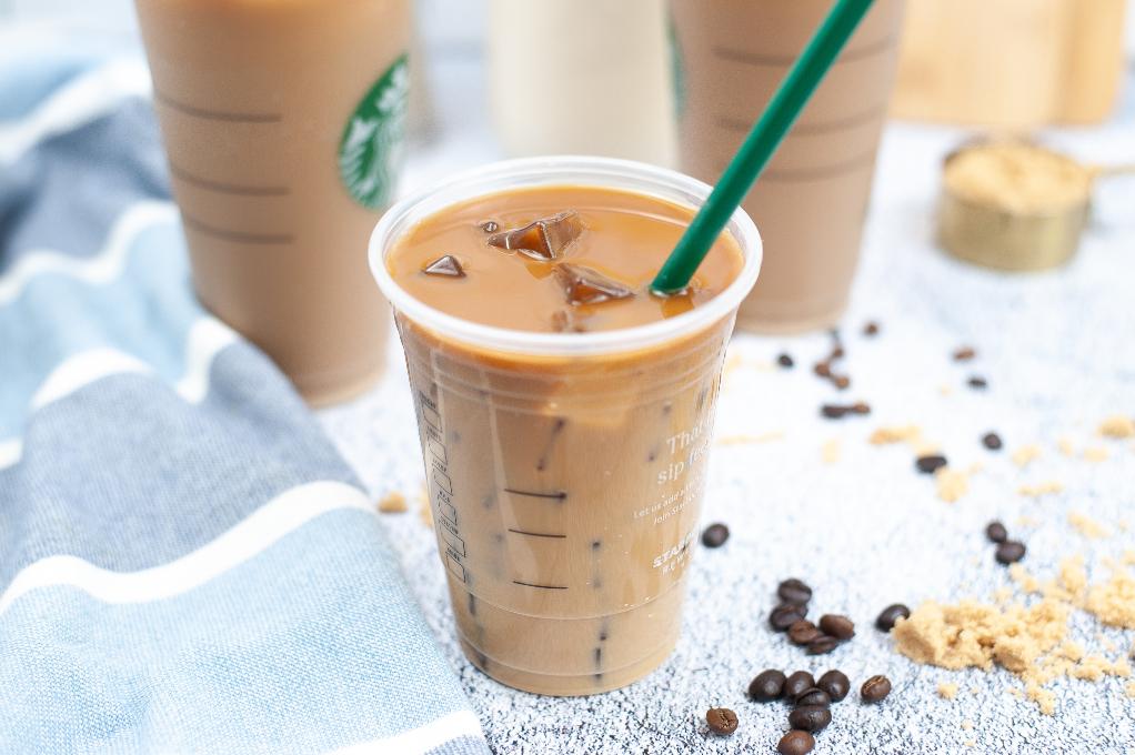 Homemade coffee drink similar to Starbucks coffee shop.